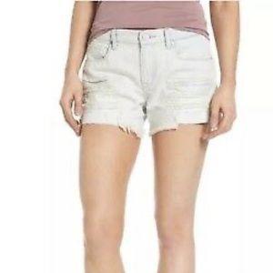 Blank NYC Tomboy Distressed Denim Shorts 27